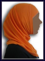 Hijab 2 teilig orange